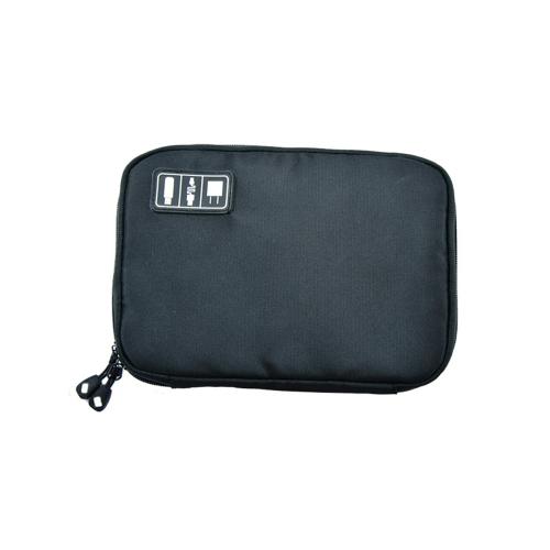 Portable Zipper Travel Storage Bag Organizadores Mini Hard Drive Cabos de fone de ouvido USB Flash Drives Telefone Charge Case for Electronic Accessories Blue