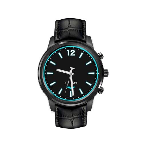 """X5 Air Multi-functional Relógio de pulso Quad Core 1.3GHz 3G Smart Watch 1.39 """"AMOLED BT4.0 Assista Smartwatch Built-in Nano SIM Card Slot Suporte Pedestre de frequência cardíaca Sport Music Player GPS Posicionamento Função"""