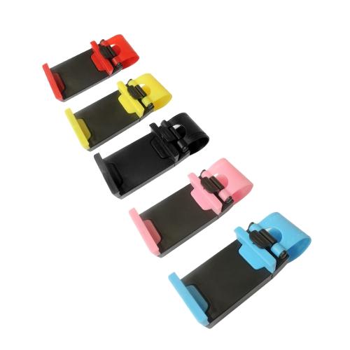 Image of 1 Stücke Universal Autotelefonhalter Lenkrad Smartphone Halter Mobile Ständer Schwarz