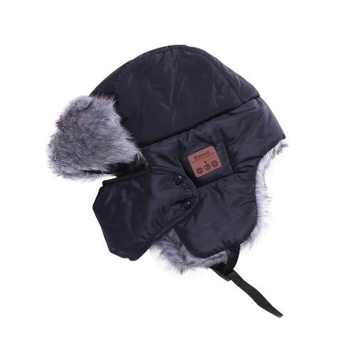 Nuovi cappelli invernali Flaps dell'orecchio Capsule di protezione della protezione della sciarpa delle mascherine della protezione della protezione della protezione di cuoio BT BT Sport esterni Hands-free dell'espositore Mp3 Magic Music Hat astuto