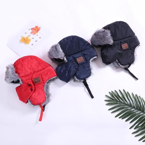 Nuevos Sombreros de invierno Orejeras Flap Capuchas Máscaras Bufanda Gorra de nieve Wireless BT Deportes al aire libre Manos libre
