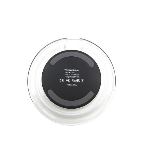 Chargeur sans fil cristal Samsung Apple Iphone véhicule émetteur QI standard Transparent