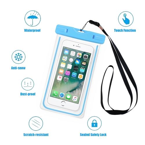 Universal Luminous Fluorescence PVC Waterprooof Smart Phone Bag for All Phones фото