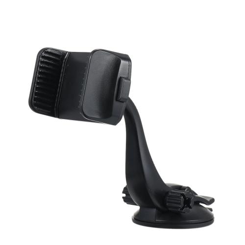 Универсальная присоска Car Mount Держатель сотового телефона Cradle Регулируемая поворот на 360 ° Лобовое стекло Панель приборов Подставка для мобильного телефона Стойка с одной кнопкой для всех 3,5-дюймовых смартфонов