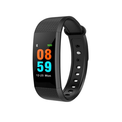 Smart Band Bracelet Montre Bracelet Fitness Tracker BT 4.0 Android iOS Compatibilité 0.96in OLED Écran Tactile Noir