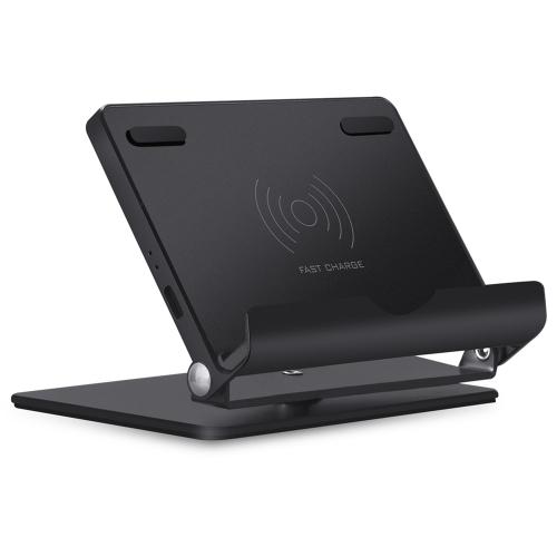 Qi Standard Bezprzewodowy stojak na ładowanie Składany uchwyt Szybkie ładowanie Obrót o 360 ° Szybka bezprzewodowa ładowarka do Samsung Galaxy S8 / S8 + / S7 / S7 edge / S6 edge + / Note 5 / Note 8 i Inne smartfony z obsługą Qi