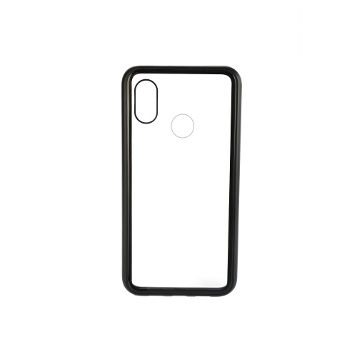 Metal-rimmed Mobile Phone Case Hardened Glass Magnetic Adsorption Protection Smartphone