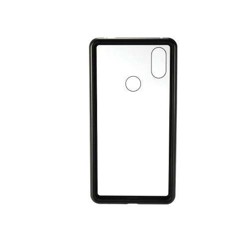Metal-rimmed Mobile Phone Case Hardened Glass Magnetic Adsorption Protection Smartphone Cover