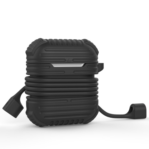 Защитный силиконовый чехол для Air Pods Protection Skin Black