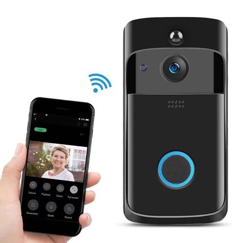 Campainha Sem Fio Inteligente 720 P Câmera WiFi Visual Vídeo Telefone Campainha Da Porta 2-way Campainha de Áudio e Vídeo