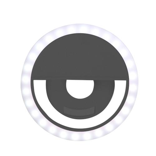 LED Selfie Licht Kreis Flash Fill Clip Kamera Lampe Tragbare Dimmbare Zusatzleuchte Für Handy & Tablets