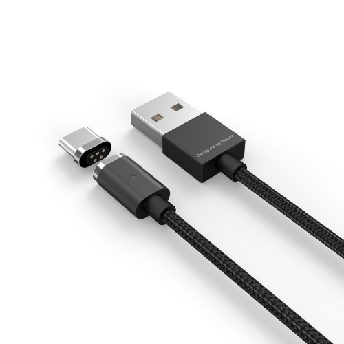 Original WSKEN X-Cable Mini 2 Metal Magnetic Type-C Charging Cable Charge & Transfer Data Cord Intelligent Data Sync Charger Quick Charging LED Indicator Light Anti-dust Plug for Huawei Xiaomi Type-C enable Smartphones Tablets PAA0037B