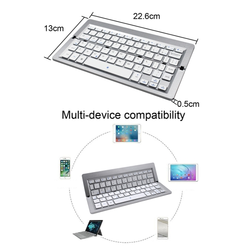 FK608A BT Keyboard Foldable Mini Wireless Touchpad Keypad