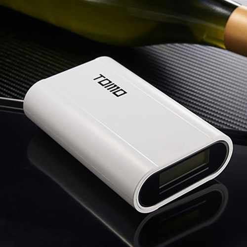 TOMO T3 Portable 18650 Li-ion Battery Charger Dual USB Ports Power Bank with Digital LCD Display for Cellphones