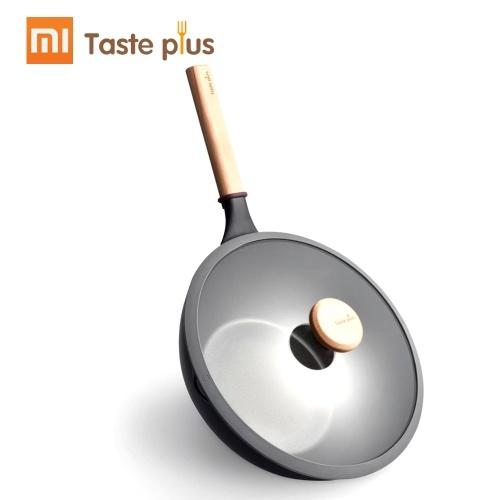 Xiaomi MOTOMI Antiaderente Wok Padella Fritta Cucina Zuppa Pot Mutiple Scopo per induzione Cottura Forno Lega di alluminio Leggero Manico in faggio