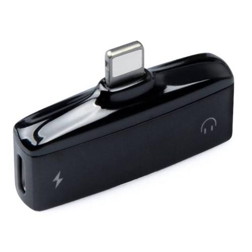 2つの1つのミニライトニングスプリッターアダプターメタルオーディオAUXコンバーターアダプターデュアルポート3.5mmヘッドフォンジャック充電ポートiPhone X 8 7 iPodのiOSデバイス