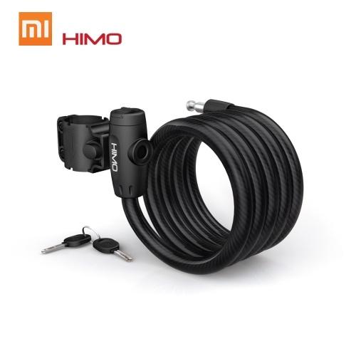 Xiaomi Mijia HIMO L150 Fechadura de Bicicleta Portátil Dobrável Cable Bike Lock Fechadura de Bicicleta Elétrica Lockswitch Anti-Roubo com 150 cm de Aço Cabo Flexível e 2 Chaves