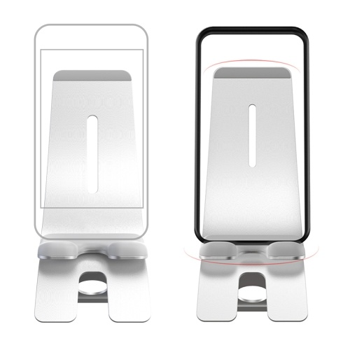 Xiaomi IQUNIX Phone Holder Tablet Aluminum Alloy Holder Bracket Multiple Angle Adjustment Silicone Protection For iPhone Samsung Huawei Oneplus 7-inch Devices