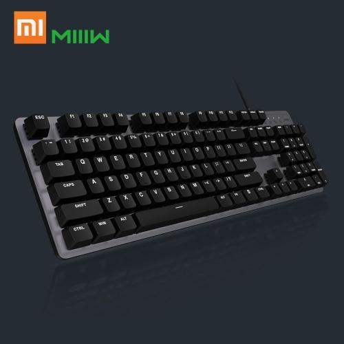 Xiaomi MIIIW Gaming mechanische Tastatur 600K 104 Tasten roter Schalter USB-Kabel Computer Gamer Backlit LED-Hintergrundbeleuchtung für PC Laptop Office