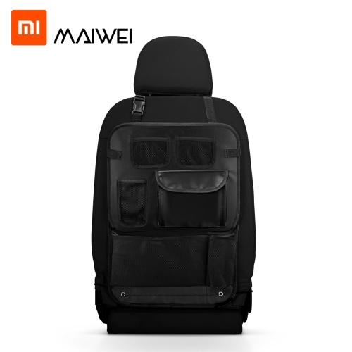 Xiaomi Youpin Maiwei Universal Car Seat Back Organizer Bolsa de armazenamento multi-bolso Suporte para tablet Recipiente de armazenamento Caixa de suspensão Caixa de armazenamento de veículo multifuncional Car-styling Preto