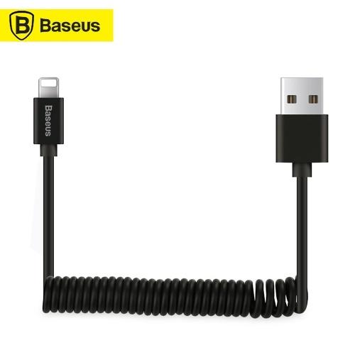 Xiaomi Baseus Spring USB Lightning Cable для iPhone XR Xs Max Автомобильный кабель Гибкий эластичный эластичный USB-кабель для передачи данных для iPhone X 8 7 6 6s iPad iOS 9 10 11 Кабель для синхронизации данных