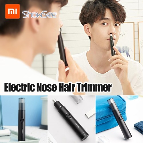 Xiaomi Youpin ShowSee Electric Nose Hair Trimmer C1-BK Portable Removable Washable Double-edged 360° Rotating Cutter Heads Low Noise