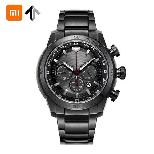 Xiaomi Youpin TwentySeventeen Solar Watch Men Stainless Steel Analog 48mm Calendar Sapphire Mirror Luminous Mens Watches
