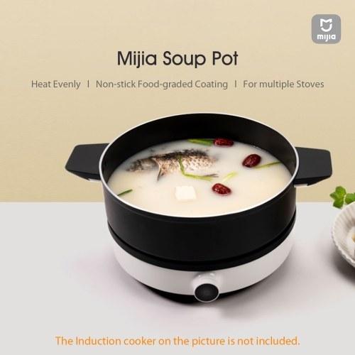 Xiaomi Mijia Soup Pot 4L Stainless Steel Hot Pot Stew Pot Induction Cooker Flat Non-stick Cooker Cooking Pot Black