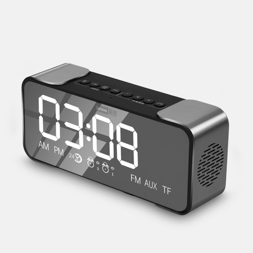 Lenovo L022 BT Speaker Radio Alarm DIY Ringtone One-Click Snooze BT Call Speaker
