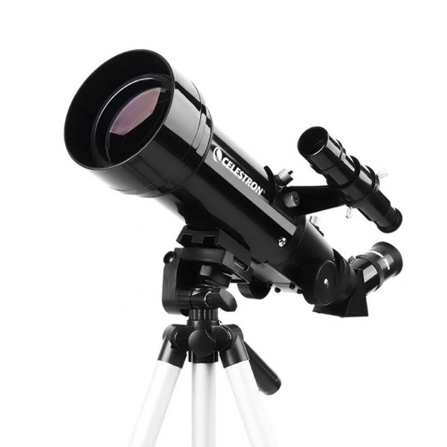 CELESTRON Astronomical Telescope TRAVEL70400 Multi-layer Coating HD Zoom Refractive Astronomical Telescope 70mm Caliber Clear Image Phone Holder LED Red Spot GPS Positioning of Stars High Magnification Telescope