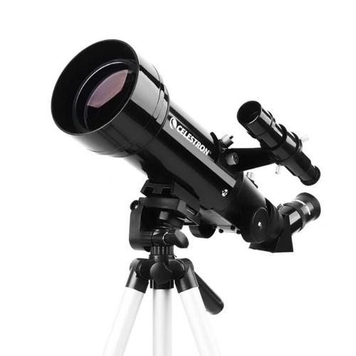 Астрономический телескоп CELESTRON TRAVEL70400 Многослойное покрытие HD Zoom Refractive Astronomical Telescope 70mm Caliber Clear Image Phone Holder LED Red Spot GPS Positioning of Stars Телескоп с большим увеличением