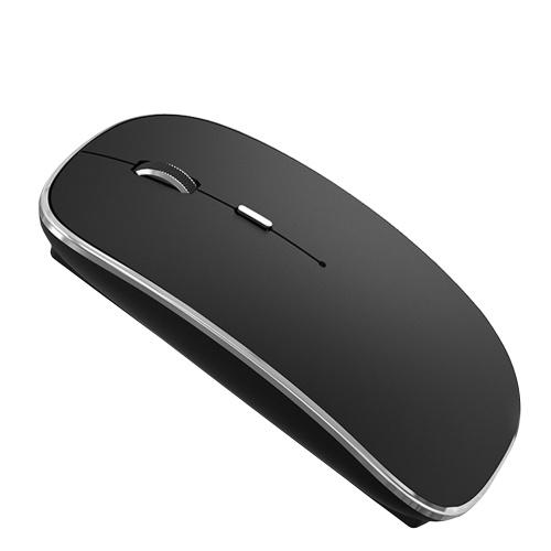 Souris sans fil Q23C 2,4 GHz avec souris d'ordinateur portable bimode BT5.1 Bouton de sourdine avec souris optique ergonomique 1200 DPI pour ordinateur portable Windows Ordinateur PC Mac Utilisation au bureau / à domicile