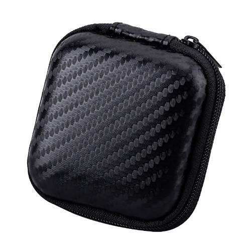 Earbud Case Earphone Carrying Case Holder Hard EVA Headphone Storage Bag Small Zipper Pouch for Wireless/Wired Earbuds Wall Charger USB Adapter Cable