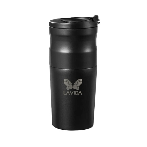 LAVIDA Electric Coffee Maker Portable Coffee Grinder Cup Instant Coffee Mini Integrated Grinder Coffee Cup for Traveler Business Camping 1200mAh Long Endurance Stainless Steel Vacuum Cup
