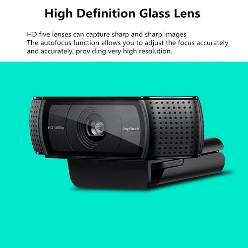 Logitech C920 Pro HD Webcam 1080P H.264 Video Calling Computer Camera