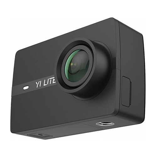 YI Lite Action Camera With Waterproof Case 16MP Real 4K Sports Camera Hi3556 Chipset 2 Inch Gorilla Glass LCD Touchscreen Built-in WIF 150°Wide Angle Lens