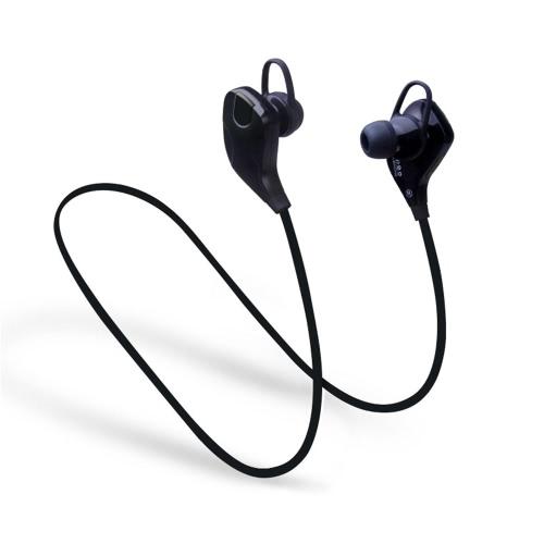 QY7S Business Sport Écouteurs intra-auriculaires stéréo stéréo BT4.1 écouteurs écouteurs écouteurs mains libres Paire / Off / On réception / suspension musique Lecture / pause volume +/- pour iPhone X Samsung S8 + note 8