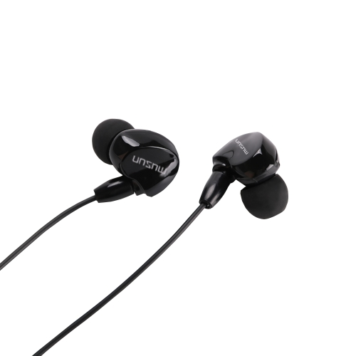 Musun E38 Universal In-Ear Écouteur 3.5mm Jack casque Ergonomique Design Mains Libres Appel Wired Intra-auriculaires pour Smartphones