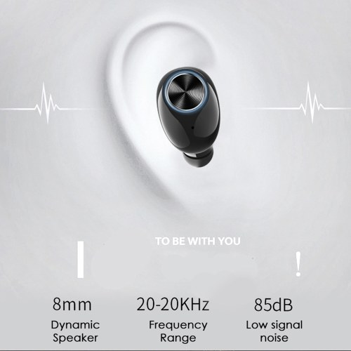 V6 TWS Mini Headphones Ture Wireless V5.0 In-Ear Earphone Stereo Headset with Power Bank Function Binaural Calling Earbuds with Charging Box For IOS Android Phone