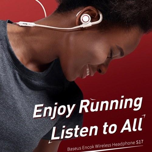 Xiaomi Baseus S17 Stereo BT Earphone Anti-shedding Ear Hook IPX5 Waterproof Sport Wireless Earphone With Magnetic Adsorption