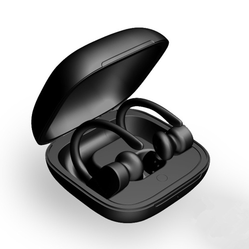 B5 TWS Fones de ouvido estéreo sem fio verdadeiros BT 5.0 Fones de ouvido esportivos com ganchos de orelha Fones de ouvido com som 6D HD Call IPX5 Siri à prova de suor Controle de voz