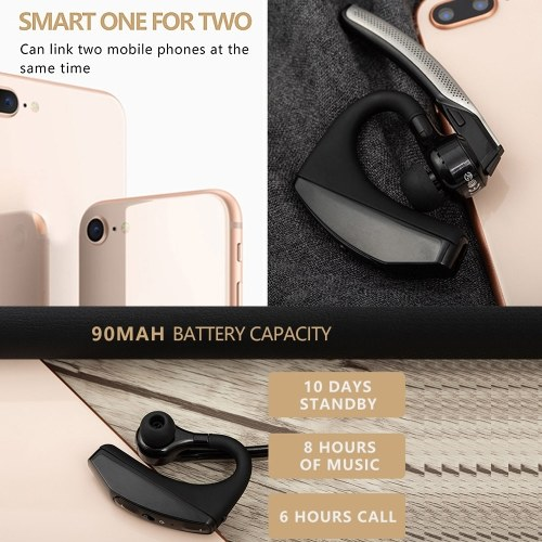 PT520 BT Wireless Earphone Business Headset Freisprecheinrichtung BT Headphone Driving Sports Earbud mit Mikrofon 1St
