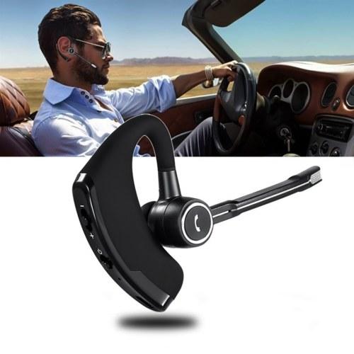 V8S BT In-ear Wireless Earphone BT5.0 Business Headset Handsfree Call BT Headphone Driving Sports Earbud With Mic Ear Hook 1pc