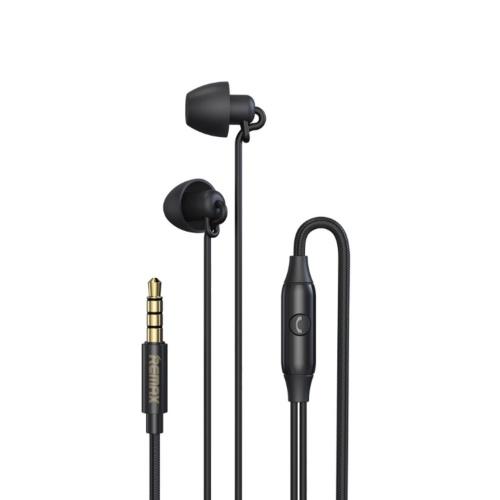 Remax RW-105 In-Ear HIFI Fone de ouvido com fio Fones de ouvido de redução de ruído com microfone para chamadas telefônicas Música Sleep Fone de ouvido com plugue de 3,5 mm Compatível com telefones Tablets Computadores