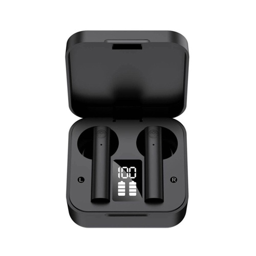 X9 TWS In-Ear BT Earphones with Stereo Sound Touch Control Waterproof Sport Earbuds LED-Digital Display Hands-Free Call Headsets with MIC Compatible with iOS Android