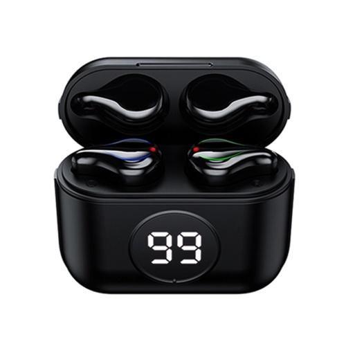 BTH-283 Echte kabellose Ohrhörer BT 5.0-Kopfhörer TWS-Stereo-Ohrhörer mit Touch-Control-LED Digitales Power-Display HiFi-Stereo-Sound Noise Cancelling-Technologie IPX7 Wasserdichtes binaurales Design Lange Spielzeit für das Spielen von Sportmusik