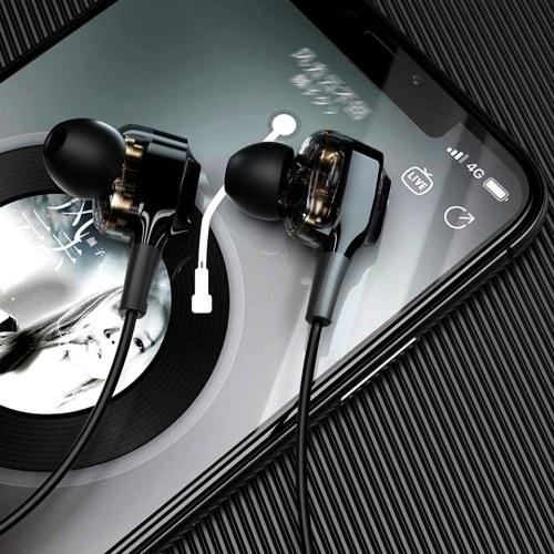 Fones de ouvido intra-auriculares BT Lenovo XE66 Quad Drivers BT 5.0 Fones de ouvido sem fio Fones de ouvido magnéticos esportivos
