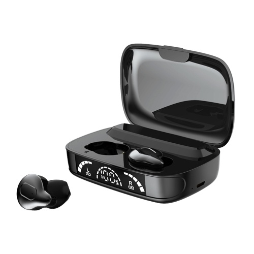 C10-3 TWS In-Ear-Ohrhörer BT 5.1-Kopfhörer Echte kabellose Ohrhörer mit CVC 8.0-Rauschunterdrückung / IPX7 wasserdicht / binaurales Design / 1200-mAh-Powerbank / digitales LED-Power-Display / HiFi-Stereo-Sound / Touch-Control-Headsets mit MIC für Gaming / Sport / Musik Kompatibel mit iOS Android