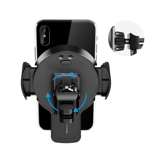 ROCK W2 Qi Car Wireless Carregar Stand para iPhone 8 X Samsung Galaxy S8 Nota 8 Rotação de 360 graus