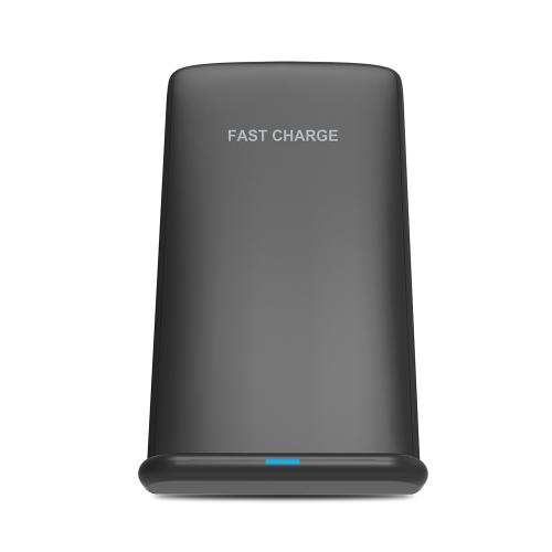 Qi chargeur sans fil rapide double bobines téléphone support de charge sans fil pour iPhone 8 X Samsung Galaxy S8 Note 8 dispositifs compatibles Qi